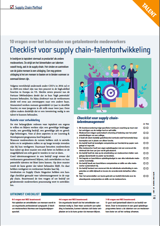 checklist talent management